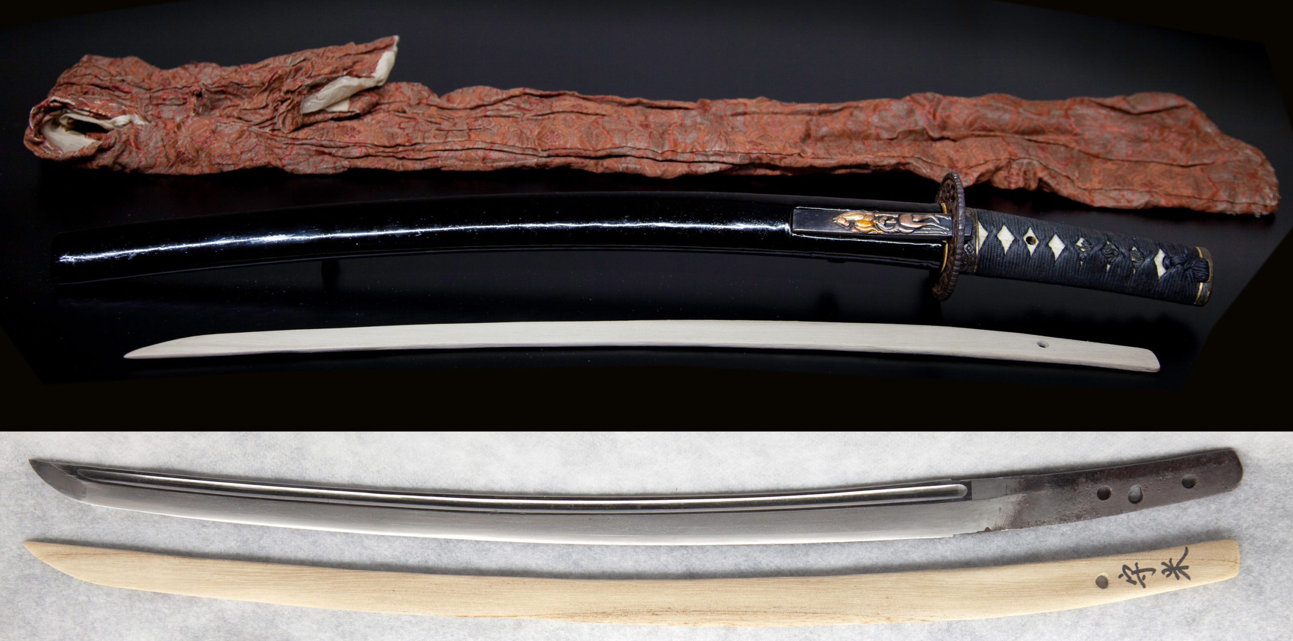 「越前来」とも呼称され初代は来国安の門人で千代鶴国安として南北朝時代に活躍した刀工の祖であり、以後この派は室町時代初期にかけて作刀しています。本振りは大永(約500年前)1521年~1528年の頃の「千代鶴守米」です。「千代鶴」+「お米」縁起の良い事この上ないです。