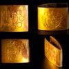 ハバキは家紋が彫られている。 Habaki is carved with a family crest.