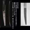 村正のタナゴ腹茎を比較する。左画像は三重県桑名の村正展に出品された勢州桑名住村正と右画像は今回出品の村正(本阿弥成善)、正真(鑑定書)です。