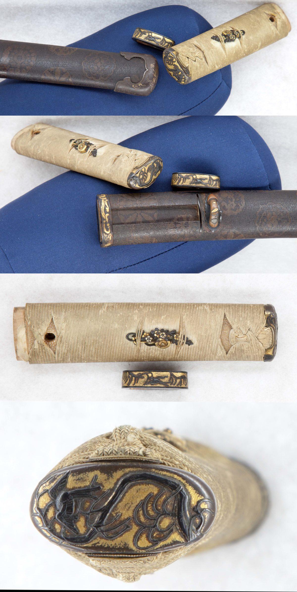 素晴らしい刀装具の数々。藩主の脇差しか。