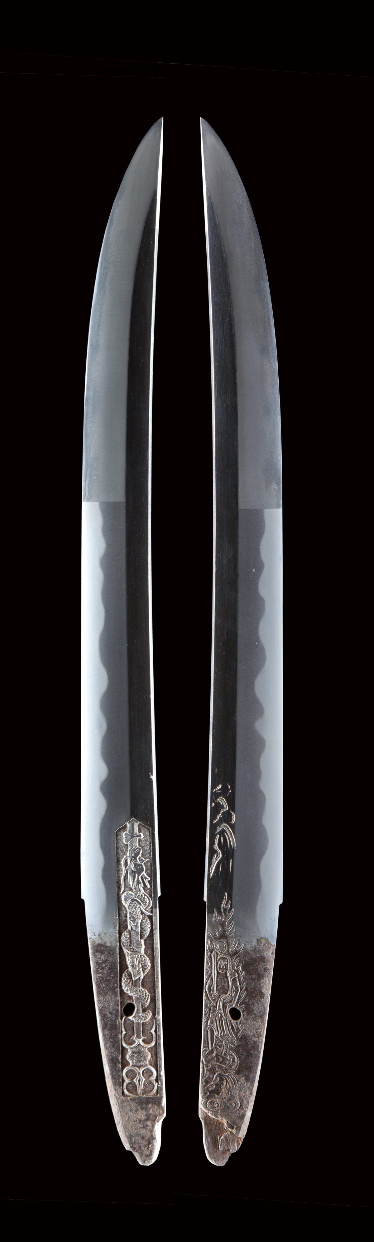 薩州仁礼正真(文化1804年-1818年頃)は 薩州礼五郎も同名で伯耆守平朝臣正幸の門下。 ねむい刃を焼き、出来がどことなく師の伯耆守正幸に似ている。